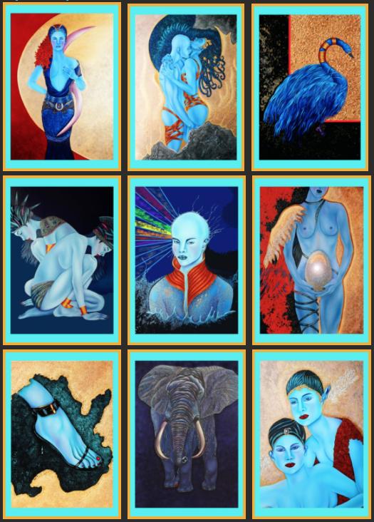 cartes Oracle Bleu